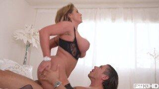Come On In: Busty Milf's Massive Titties Jizzed All Over